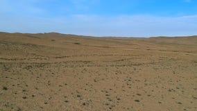 Opinião de Ariel do solo de deserto no Negev de Israel vídeos de arquivo