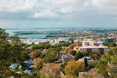 Opinião de Auckland de Mt Eden foto de stock