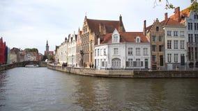 Opinião de Bélgica Bruges da cidade vídeos de arquivo