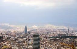 Opinião de Barcelona. Fotografia de Stock