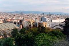 Opinião de Barcelona de cima de imagem de stock royalty free