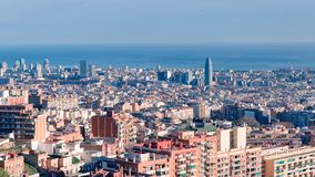 Opinião de Barcelona de cima de imagens de stock
