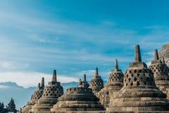 Opinião de Borobudur Stupa de próximo foto de stock royalty free