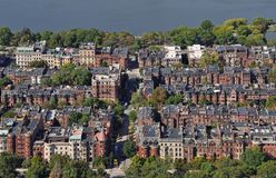 Opinião de Boston do centro de prudência fotos de stock royalty free