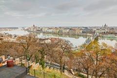 Opinião de Budapest de Royal Palace Fotografia de Stock Royalty Free