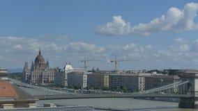 Opinião de Budapest e de Danúbio video estoque