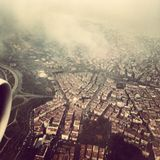 Opinião de Budapest na mosca Imagens de Stock