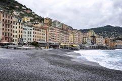 Opinião de Camogli - Itália Fotografia de Stock