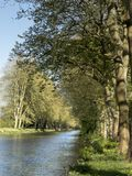 Opinião de Canal du Midi, france foto de stock royalty free