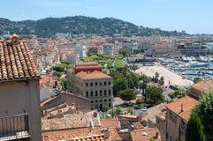 Opinião de Cannes Imagens de Stock Royalty Free
