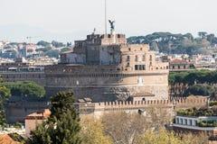 Opinião de Castel Sant ' Angelo de Gianicolo Foto de Stock Royalty Free