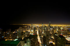 Opinião de Chicago do edifício de Hancock fotos de stock