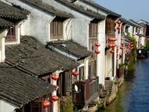 Opinião de cidade antiga de Shan Tang Fotografia de Stock