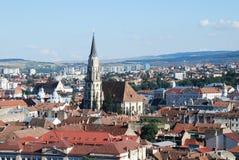 Opinião de Cluj da parte superior Foto de Stock Royalty Free