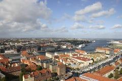 Opinião de Copenhaga Fotos de Stock Royalty Free