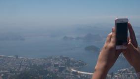 Opinião de Corcovado em Rio de Janeiro Imagens de Stock