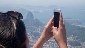 Opinião de Corcovado em Rio de Janeiro Imagens de Stock Royalty Free