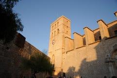 Opinião de Dalt Vila da cidade de Eivissa em Ibiza Balearic Island Soain foto de stock royalty free