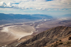 Opinião de Dante's - parque nacional de Vale da Morte, Califórnia, EUA Foto de Stock