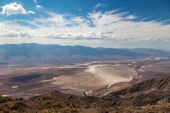 Opinião de Dante's - parque nacional de Vale da Morte, Califórnia, EUA Fotografia de Stock