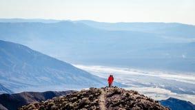 A opinião de Dante no parque nacional de Vale da Morte Foto de Stock