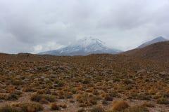 Opinião de deserto de Atacama Fotografia de Stock