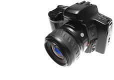 Opinião de direita superior da câmera de SLR Imagens de Stock