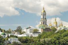 Opinião de Dnieper do rio na mola, Kiev, Ucrânia Fotografia de Stock