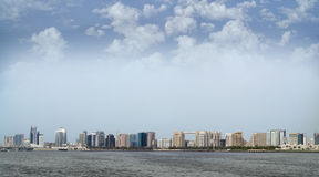 Opinião de Dubai Creek Fotografia de Stock Royalty Free