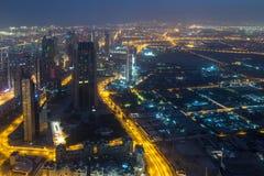Opinião de Dubai de Burj Khalifa Foto de Stock Royalty Free