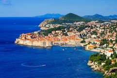 Opinião de Dubrovnik Foto de Stock Royalty Free