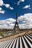 Opinião de Eiffel da excursão Fotos de Stock Royalty Free