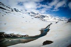 Opinião de elevação alta do Bernina expresso Fotografia de Stock Royalty Free