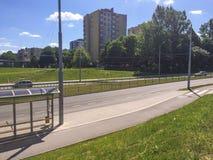 Opinião de estrada de cidade Fotografia de Stock