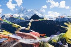 Opinião de Everest da cimeira da montanha de Gokyo Ri fotos de stock