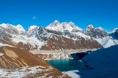 Opinião de Everest da passagem do la de Renjo Fotografia de Stock