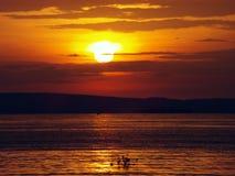 Opinião de Evining do céu do Lago Vitória Imagens de Stock