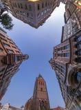 Opinião de Fisheye da cidade velha de Hannover Imagens de Stock Royalty Free