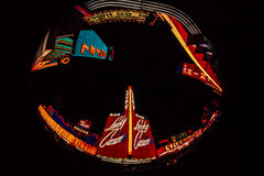 1964 opinião de Fisheye de Las Vegas, nanovolt Fotografia de Stock Royalty Free