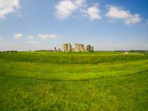 Opinião de Fisheye de Stonehenge em Sunny Day Imagens de Stock Royalty Free
