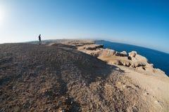 Opinião de Fisheye em Ras Mohamed, Egito, Sinai sul Imagens de Stock Royalty Free