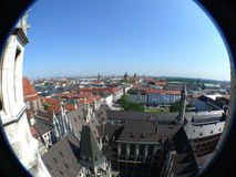 Opinião de Fisheye - panorama de Munich Fotos de Stock Royalty Free