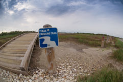 Opinião de Fisheye Texas Paddling Trail na baía de Galveston Fotos de Stock