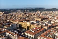 Opinião de Florença da torre de Bell Fotografia de Stock Royalty Free