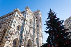 Opinião de Florence Cathedral, marco italiano Foto de Stock