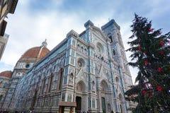 Opinião de Florence Cathedral, marco italiano Imagem de Stock