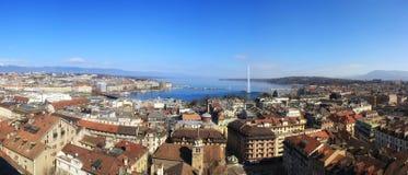 Opinião de Genebra foto de stock royalty free