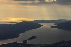 Opinião de Georgeus na baía do Kotor em Montenegro imagem de stock