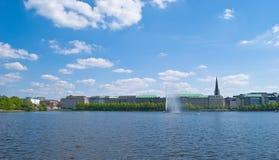 Opinião de Hamburgo Alster Foto de Stock