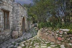 Opinião de HDR da cidade de pedra Datca Imagem de Stock Royalty Free